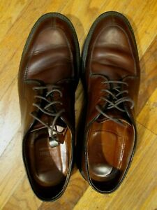 ALDEN NEW ENGLAND BROWN LEATHER SHOES GOODYEAR WELT RUBBER SOLES 71188   SZ-8B
