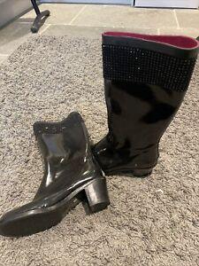 Muddz Wellies with heel - Size 7