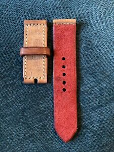 26mm Handmade Leather PAM Watch Strap