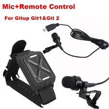 Profesión Microphone + Control Remoto Para Gitup Git2 Sports Casco Acción Cámara