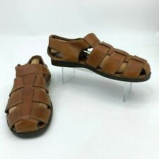Tommy Bahama Sandals Mens Size 11 M Brown Anchors Away Fisherman Woven Leather