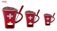 Nouvel CH Kreuz Schokoladenfondue-set 3teilig rot