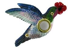 Surface Mount Push Button Doorbell Painted Hummingbird Colorful Poly-resin