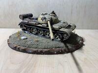 1/35 Scale Pro Built Damaged Armoured Tank Plastic Model Diorama