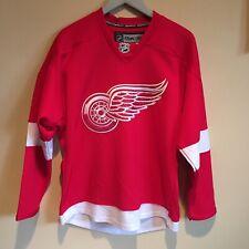 Reebok CCM Authentic Detroit Redwings Hockey Jersey Mens Size 48 Fightstrap NHL