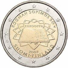 2 Euro Finlande 2007 Traité de Rome Finland Qualite Unc