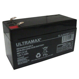 NP1.2-12 Ultra Max Lead Acid Rechargeable Alarm Battery Battery 12V 1.2Ah