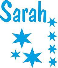 Personalised Name stars boys girls childs bedroom custom sticker wall art decal