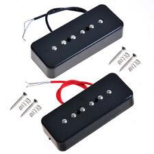 2pcs Black Guitar Bridge And Neck Pickup For GB P90A Soap Bar Pickup replacement