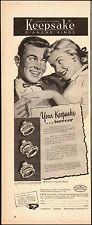 1950's Vintage ad for Keepsake Diamond Ring`Art, jewelry (030115)
