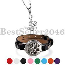 2er Aromatherapie ätherisches Öl Diffuser Locket Leder Armband Armreif Halskette