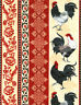 Rooster Fabric, Rooster Stripe, By The Yard, Timeless Treasures, TheFabricEdge
