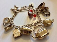 Fabulous Early Vintage Substantial Stunning 9CT Gold Charm Bracelet Must See