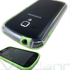 Custodia BUMPER per Samsung Galaxy Trend S7560 trasparente bordo VERDE
