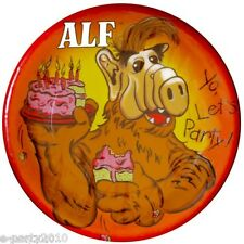 ALF LARGE PAPER PLATES (8) ~ Birthday Party Supplies Vintage Dinner Luncheon