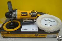 BRAND NEW DEWALT DWP849X VARIABLE SPEED POLISHER 240V + SPARE BONNET DT3568