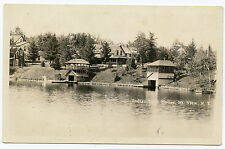 RPPC NY Adirondacks Mountain Mt View Indian Lake House & Boat Houses Franklin Co