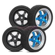 RC 1:10 On Road Car Foam Sponge Rubber Tyres Tires &Wheel Rims 9051-8004