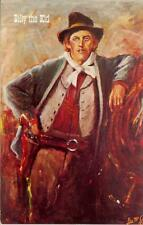 Billy The Kid Outlaw /  Lea McCarty Painting Vintage 1960's Wild West Postcard