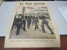 LE PETIT JOURNAL SUPPLEMENT ILLUSTRE N 349 1897 GUILLAUME II BLESSE YACHT