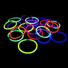 """1000 8"""" Glow Sticks Bracelets Neon Colors Party Favors"""