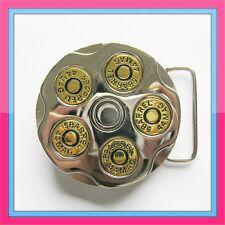 SPINNER BULLET  COWBOY REVOLVER MILITARY GUN BARREL 44 MAG BELT BUCKLE !!!