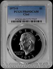1973-S Clad Eisenhower Dollar Pcgs Pr69Dcam :A Top Ike Dollar Source in the Usa!