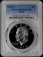 1973-S Clad Eisenhower Dollar PCGS PR69DCAM !!