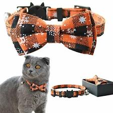 Cat Collar Breakaway with Bell and Bow Tie, Adjustable Safety Kitty Kitten 11