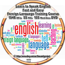 1048 Mp3s Learn To Speak English Fast Easy Foreign Language Training Courses DVD