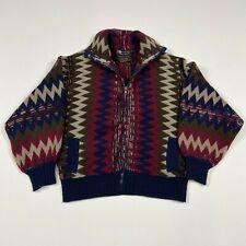 Vintage 70s 80s Renee Tener Outlander 100% Wool Boho Full Zip Sweater Womens Med