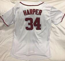 Washington Nationals Majestic Bryce Harper Authentic Jersey Sz 54