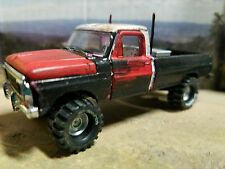 Custom built lifted 1967_69 Ford Truck 1:64 4x4 mud tires 4wd junkyard dog resto