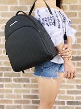 Michael Kors Abbey Large Backpack Black MK Signature PVC Leather 2018 Fall