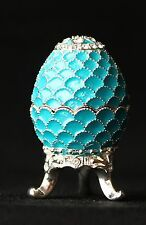 "St Petersburg Russian Faberge Egg: Easter Egg Trinket Box, 1.2"" ""Scales"""