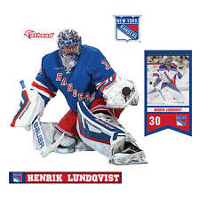 Henrik Lundqvist NY Rangers teammate fathead 8x7 new goalie the king