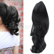 Perruque queue de cheval bouclés extension cheveux femme postiche clips Ponytail