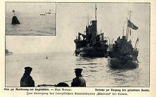 Affondamento del Franz. sottomarino Pluviose presso Calais storica delle riprese di 1910