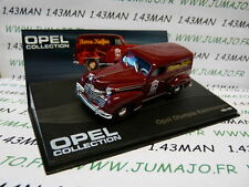 voiture 1/43 IXO eagle moss OPEL collection n°88 : OLYMPIA KASTENWAGEN café 1950