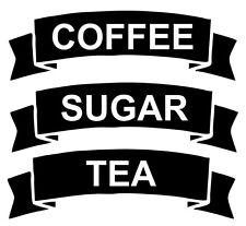 Tea coffee sugar - sticker Decals for jars
