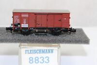 n2598, Fleischmann 8833 Gedeckter Güterwagen K.P.E.V. BOX Spur N mint