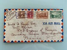 China Clipper Flight Vancouver CoverCanada to Manila Philippines 1938 Air Mail
