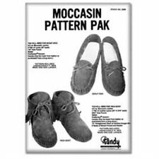 Moccasin Pattern Pack ( Scout Moc and Inca Boot) Tandy Leather 62668-00