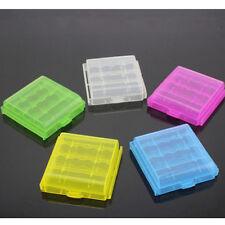 4 STK Günstig Hart Plastik Box Koffer Halterung Für AA AAA Batterie Lagerung Neu