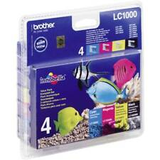 Genuine Brother LC1000 Black & Coloured Ink Cartridge For DCP-130C DCP-330C
