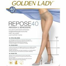 COLLANT GOLDEN LADY REPOSE 40 DENARI AZIONE DEFATICANTE 5 PAIA RIPOSANTE