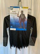 Dark Crusader Boy's Size Large 10-12, 4 Piece Set Halloween Costume Ages 8+ NWT