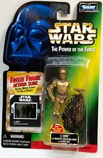 STAR WARS Figures C-3PO Removable Cargo Freeze Frame POTF2 Green Carded 1998