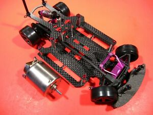 VINTAGE HPI MICRO RS4 AKTION RC 1/18 4wd 540 MOTOR w CNC ALUMINUM PURPLE HOPUPS