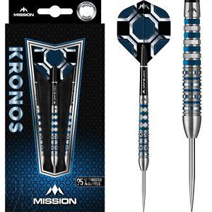 Mission Kronos Steel tip 95% Tungsten Darts - Blue Titanium M3 - 24g